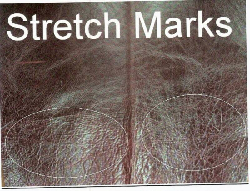 leather Characteristic strech mark